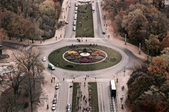 From the Atomium in Brussels, Belgium